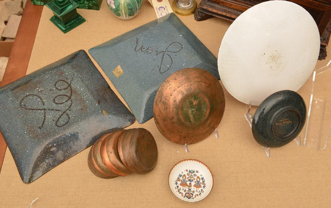 Collection signed Modernist enamelware - 6
