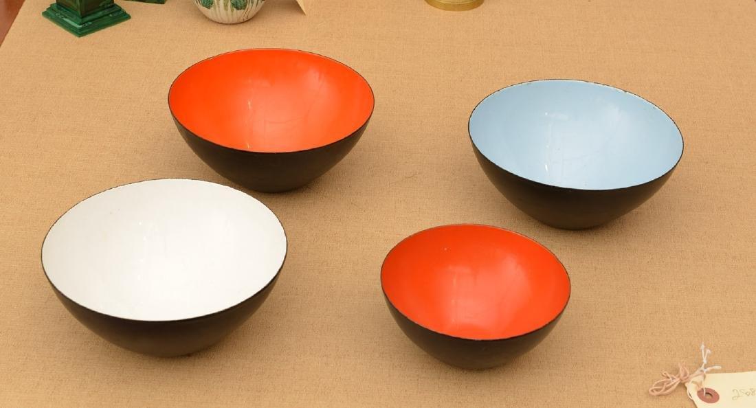(4) Herbert Krenchel Krenit enamelware bowls