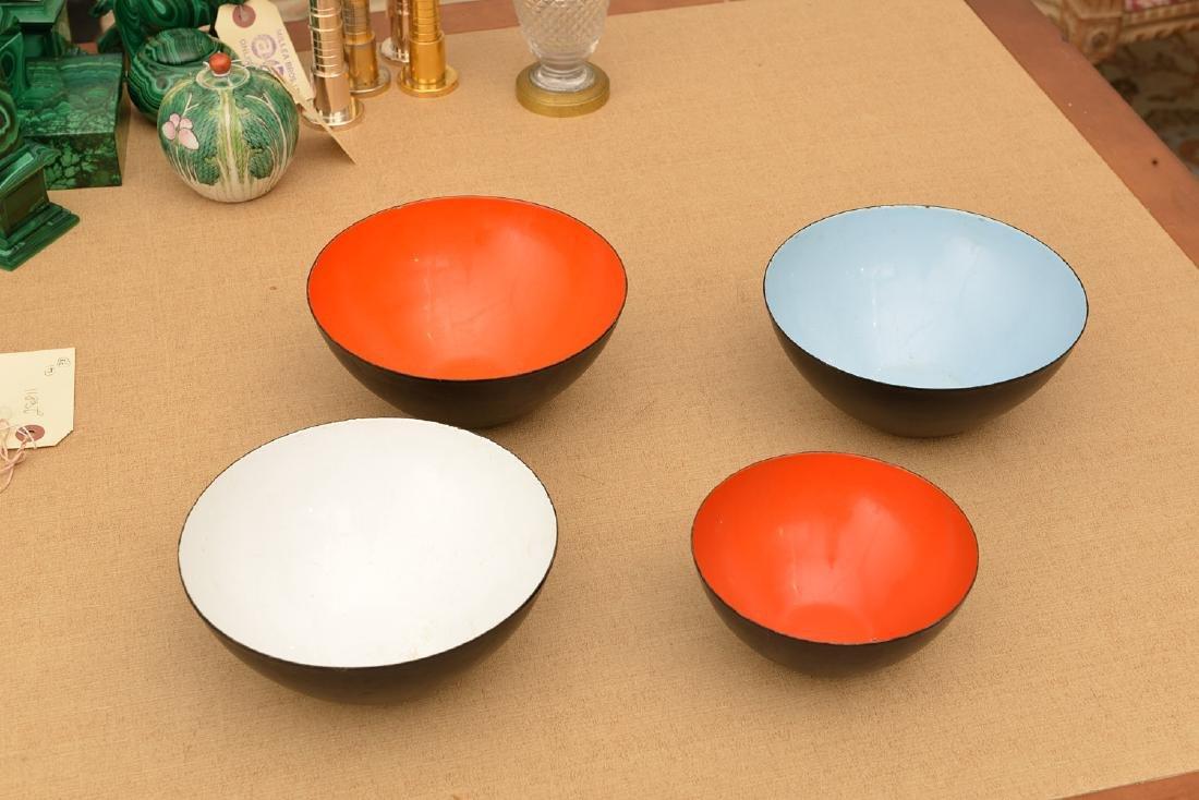 (4) Herbert Krenchel Krenit enamelware bowls - 2