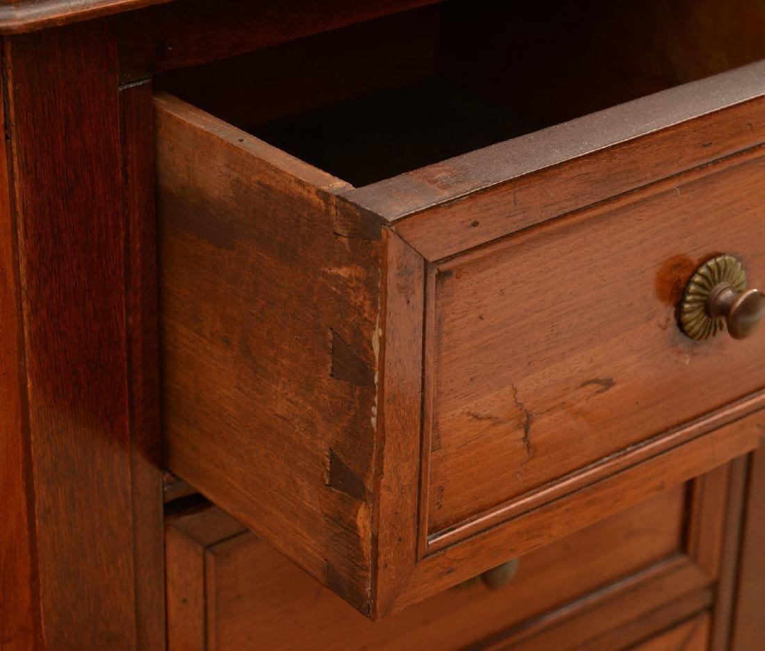 Louis XVI marble top mahogany demilune etagere - 2
