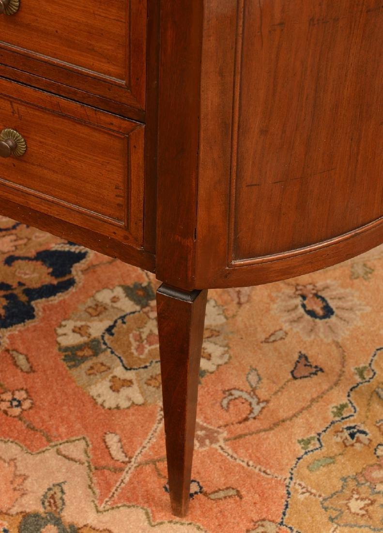 Louis XVI marble top mahogany demilune etagere - 3