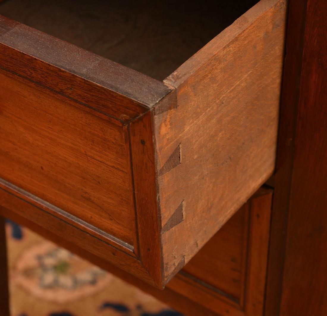 Louis XVI marble top mahogany demilune etagere - 5