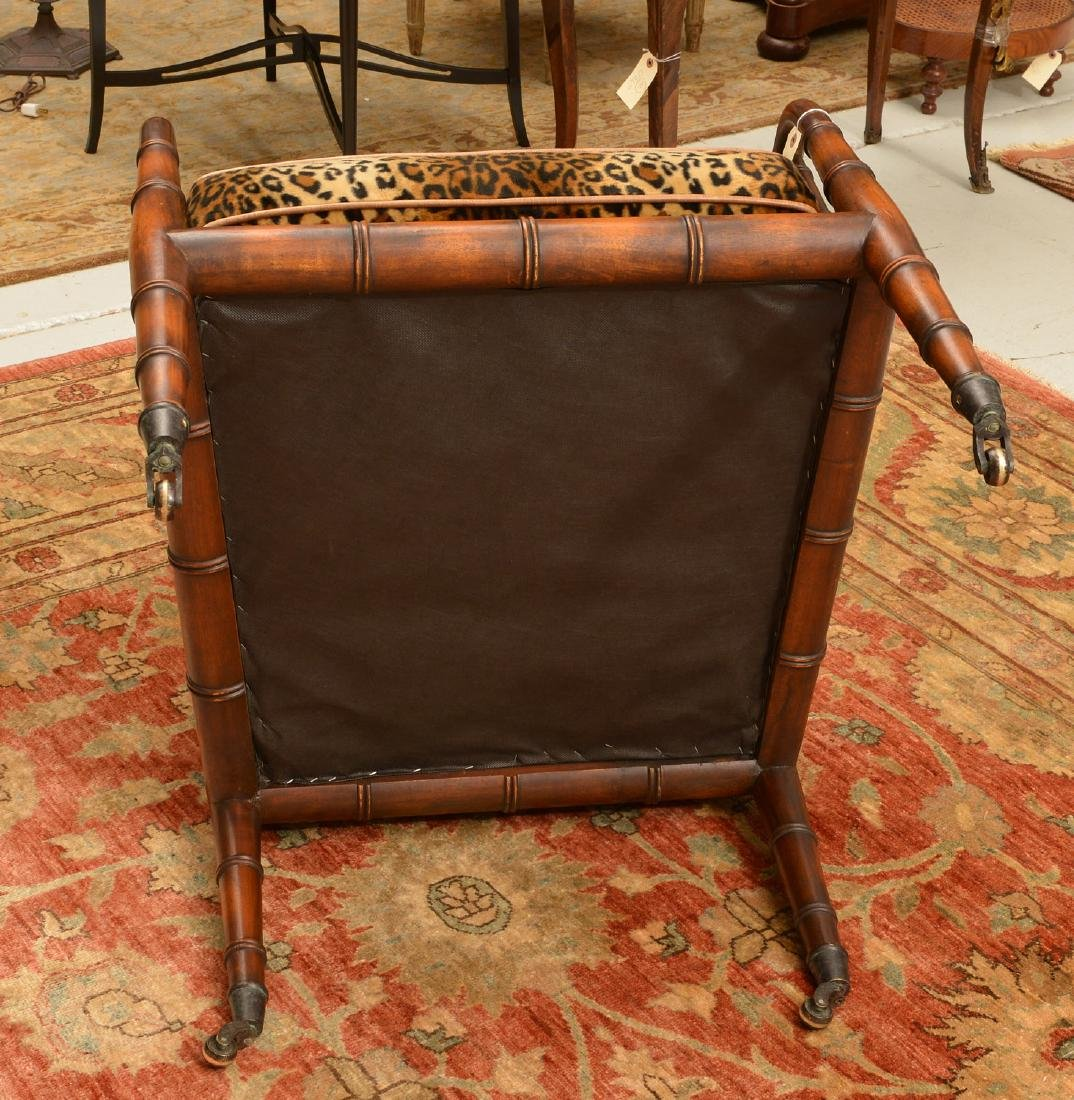 Regency style bamboo carved bergere - 6