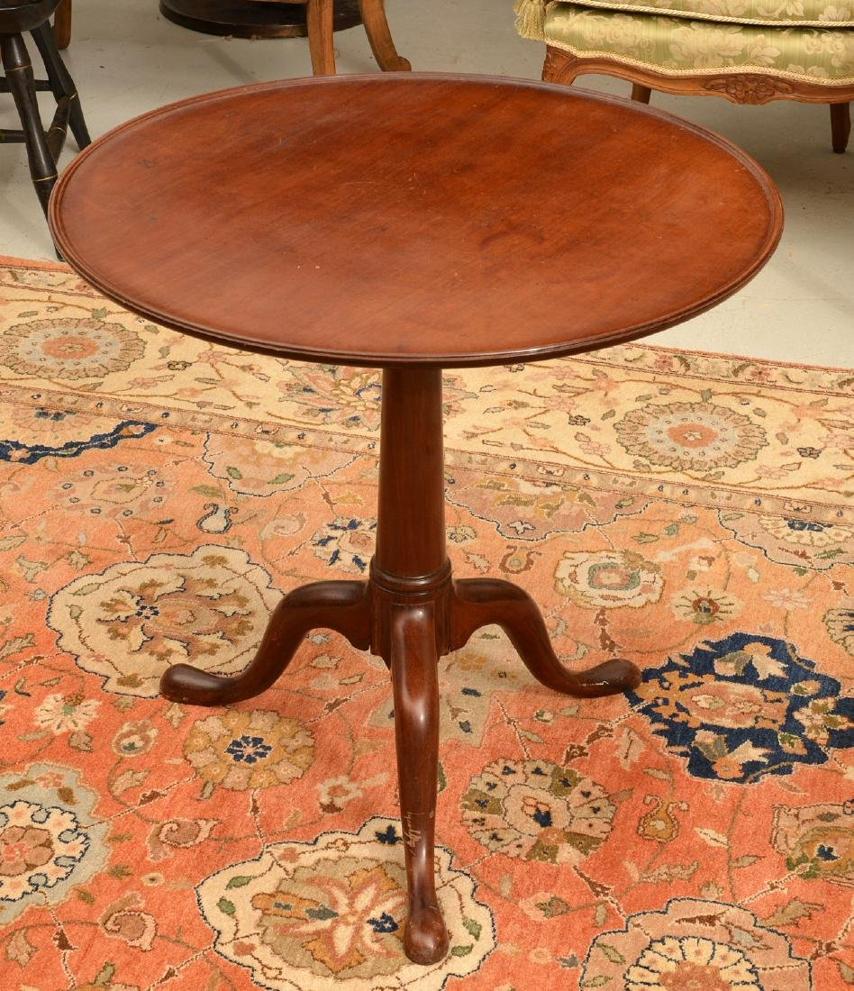Antique Chippendale style tilt-top tea table
