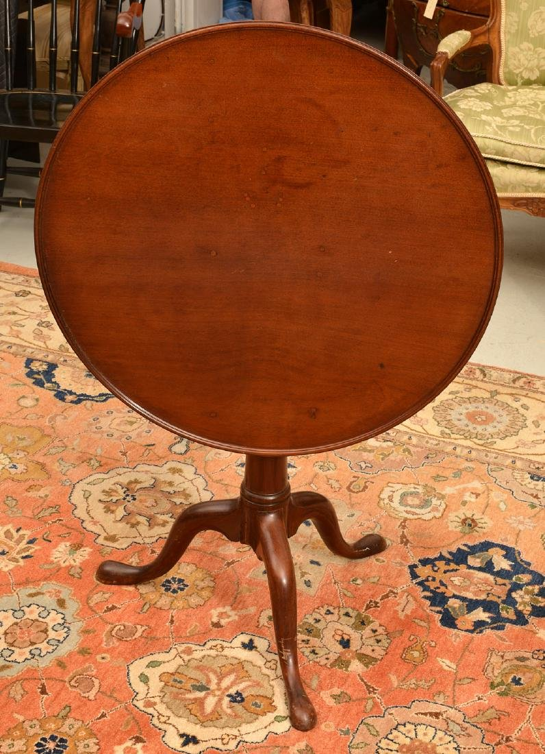 Antique Chippendale style tilt-top tea table - 2