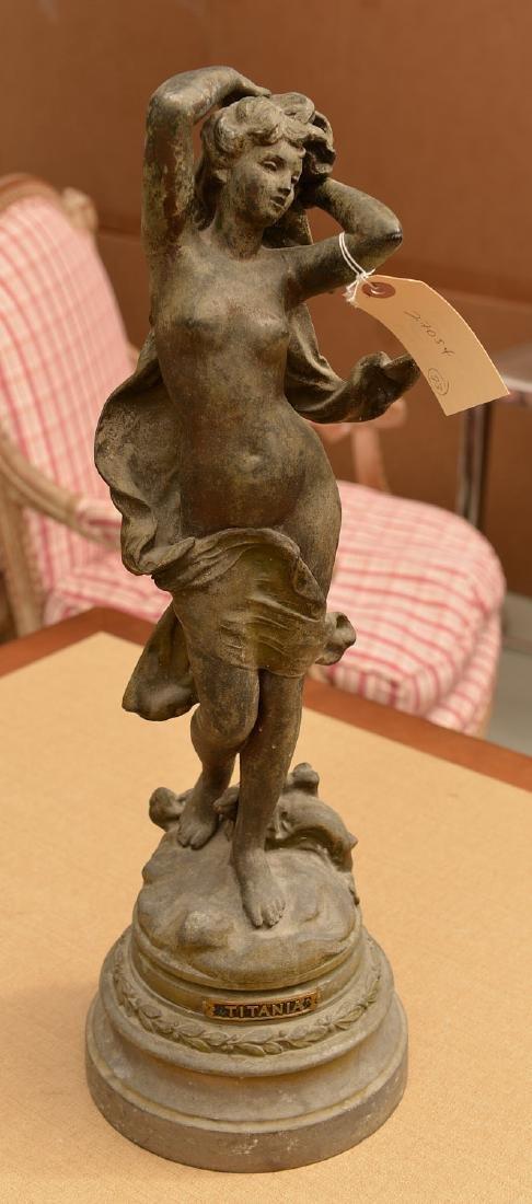 English School, spelter sculpture - 2