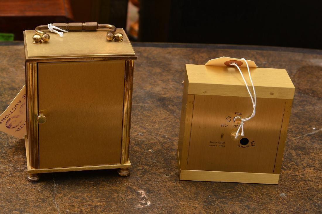 (2) Tiffany & Co. brass table clocks - 4