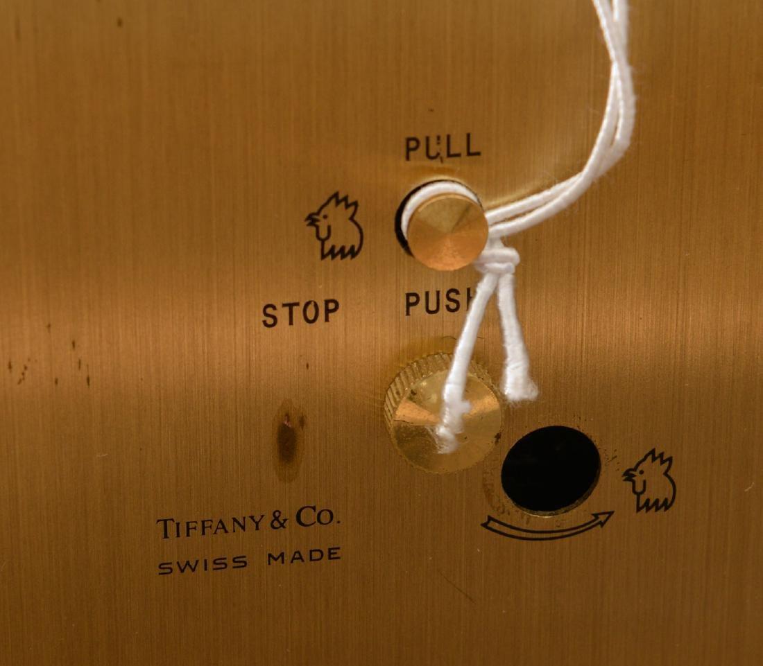 (2) Tiffany & Co. brass table clocks - 5