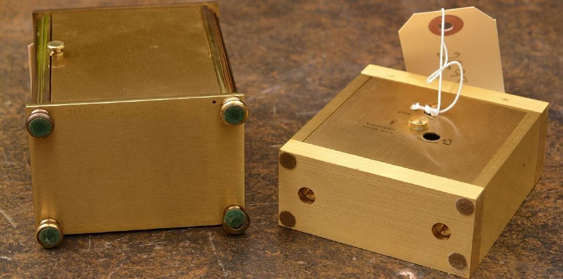 (2) Tiffany & Co. brass table clocks - 6