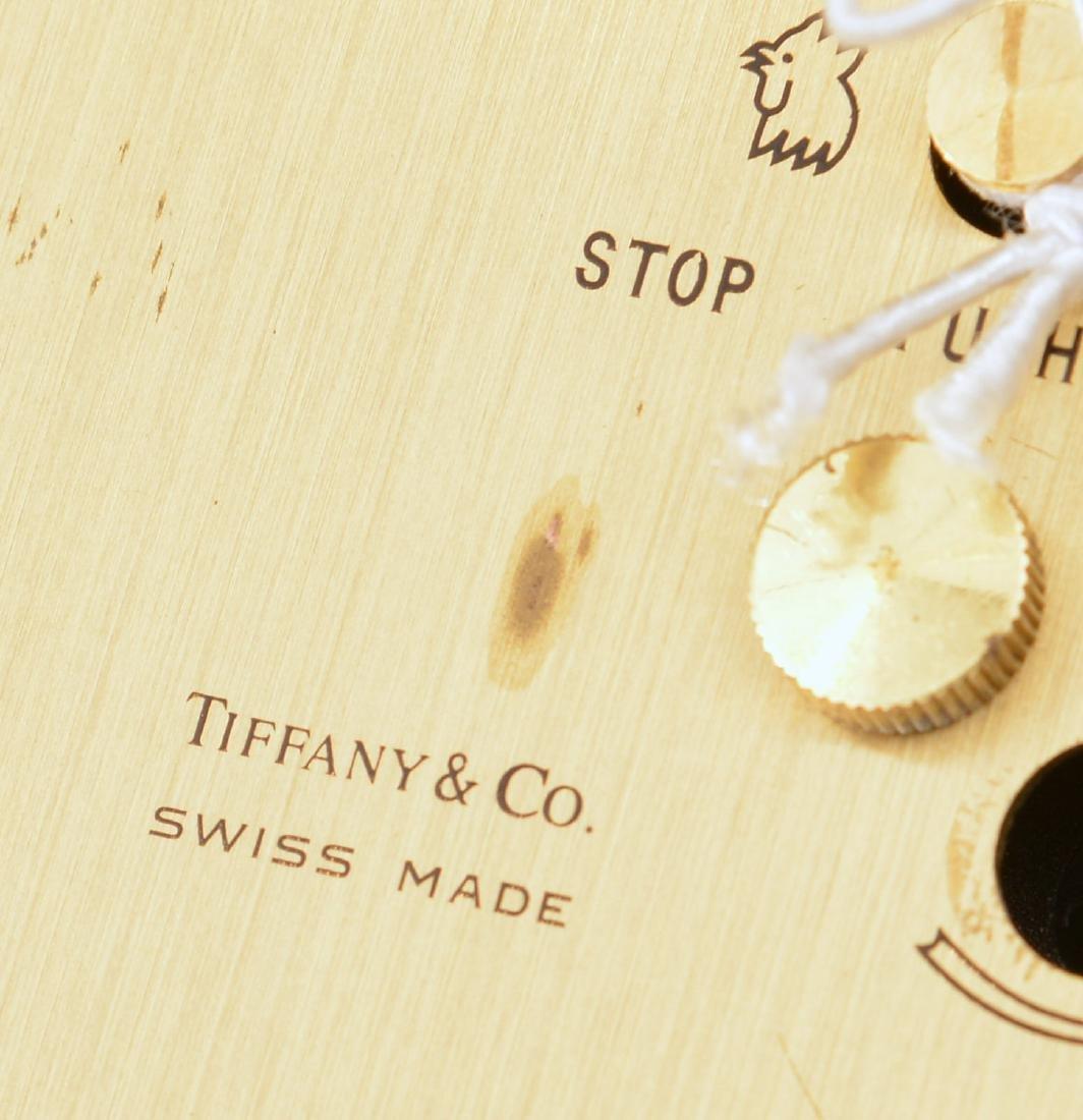 (2) Tiffany & Co. brass table clocks - 7