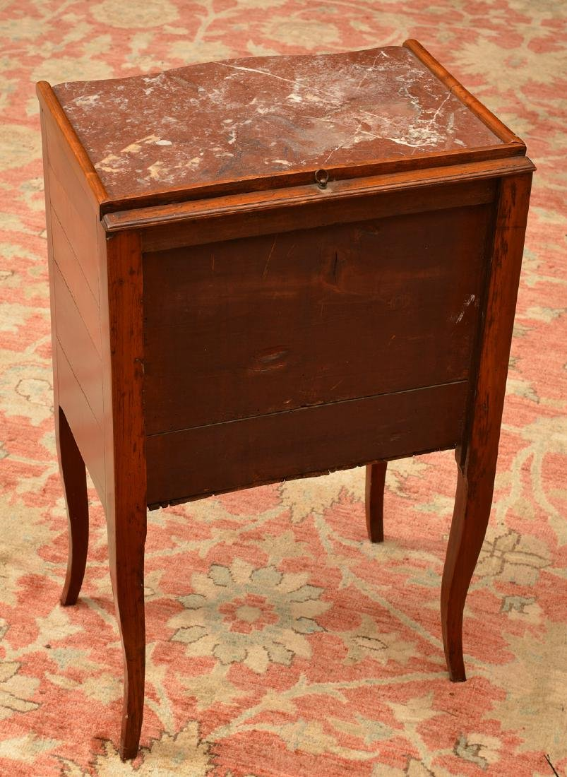 Transitional Louis XVI marble top stand - 3