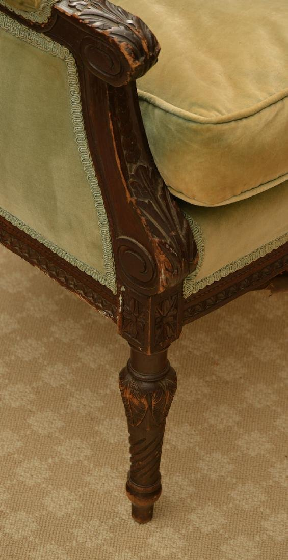 Richly carved French upholstered bergere - 3