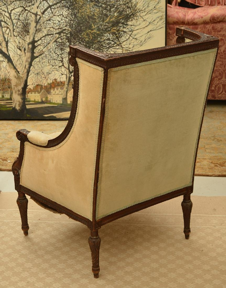 Richly carved French upholstered bergere - 4