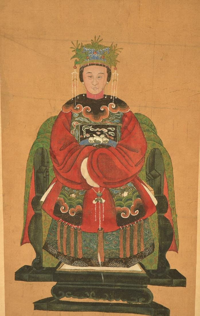 Pair Chinese ancestral portraits - 2