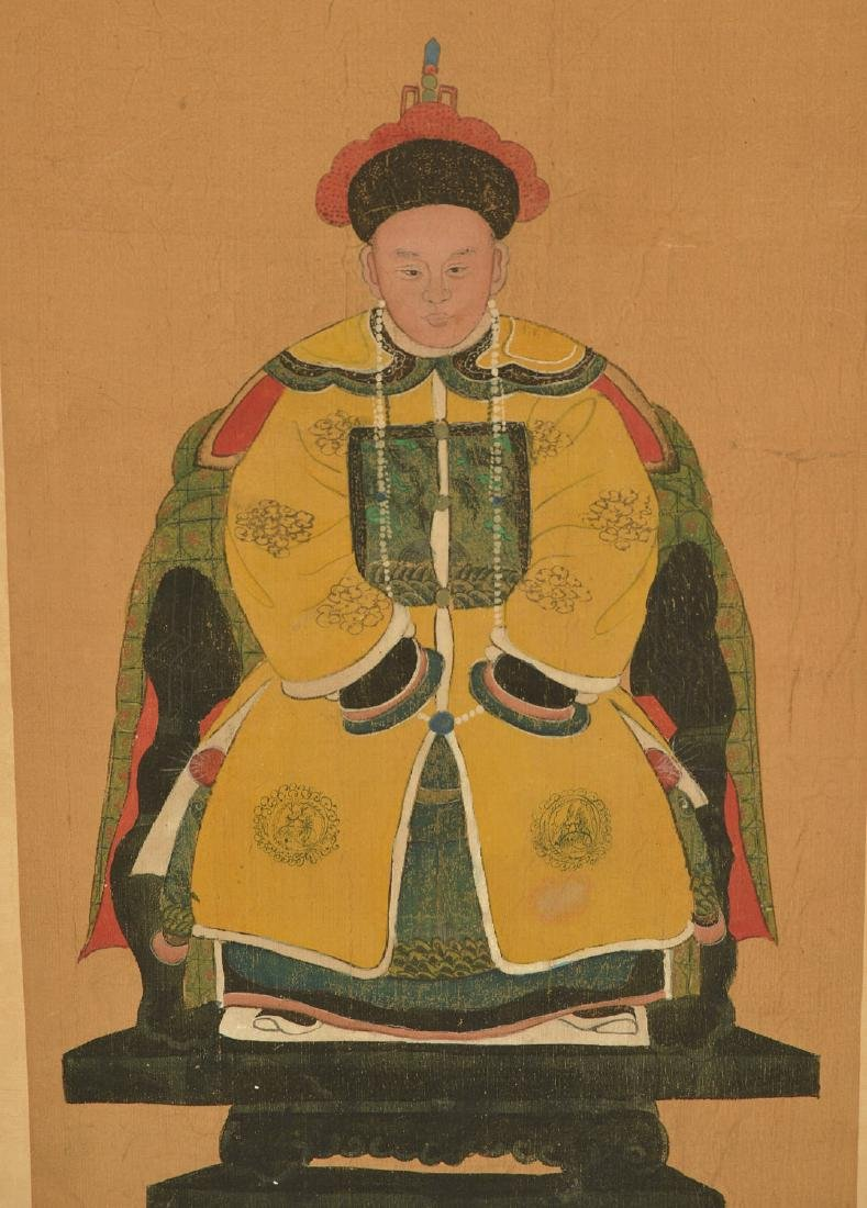 Pair Chinese ancestral portraits - 3