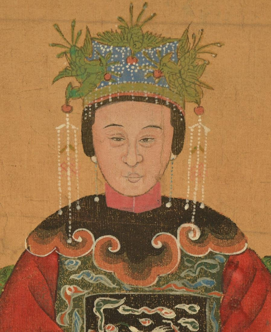 Pair Chinese ancestral portraits - 4