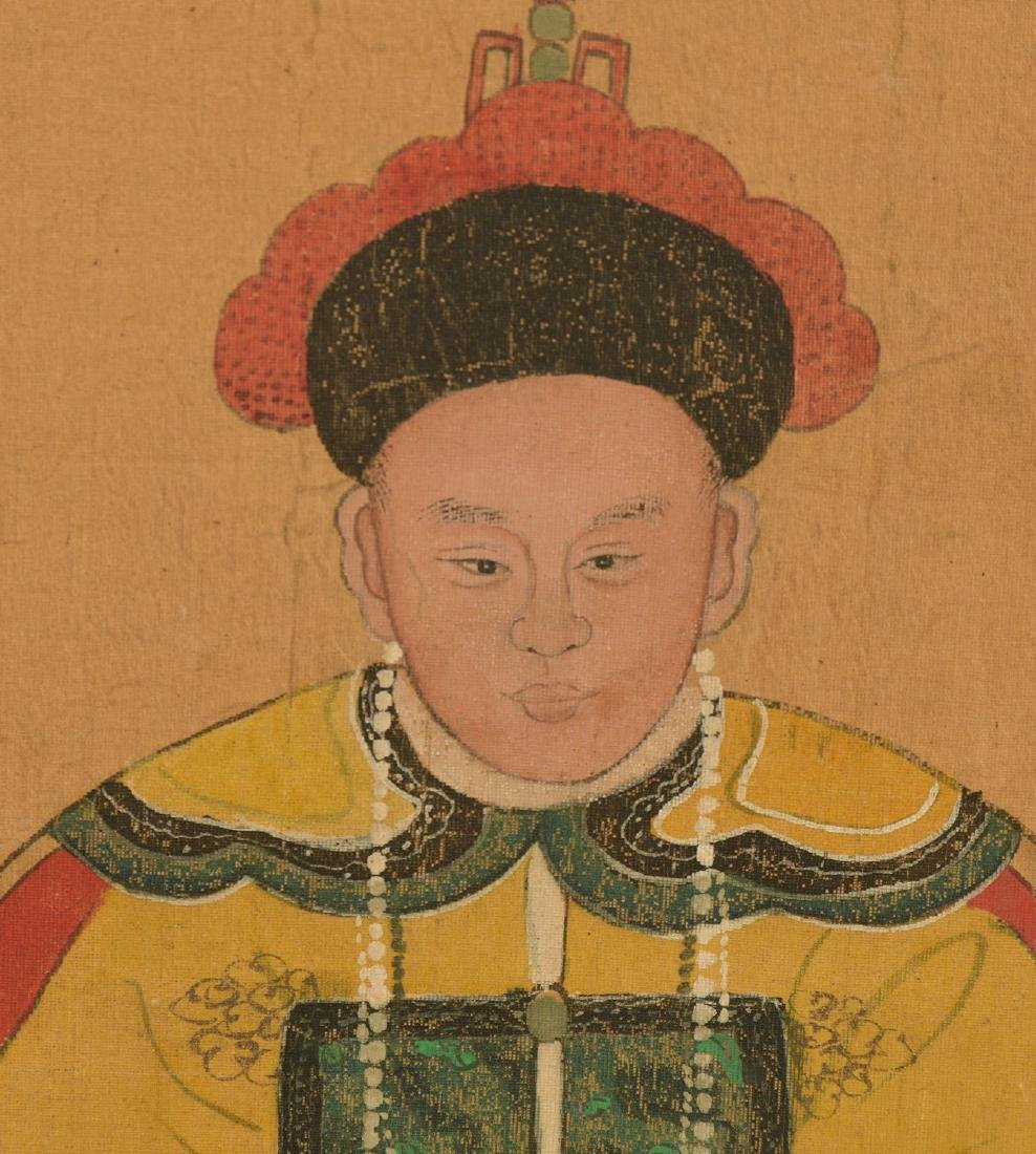 Pair Chinese ancestral portraits - 5