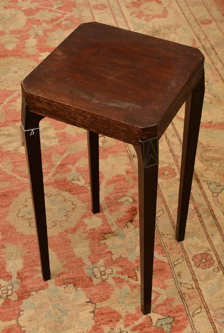 Art Deco style aluminum legged occasional table