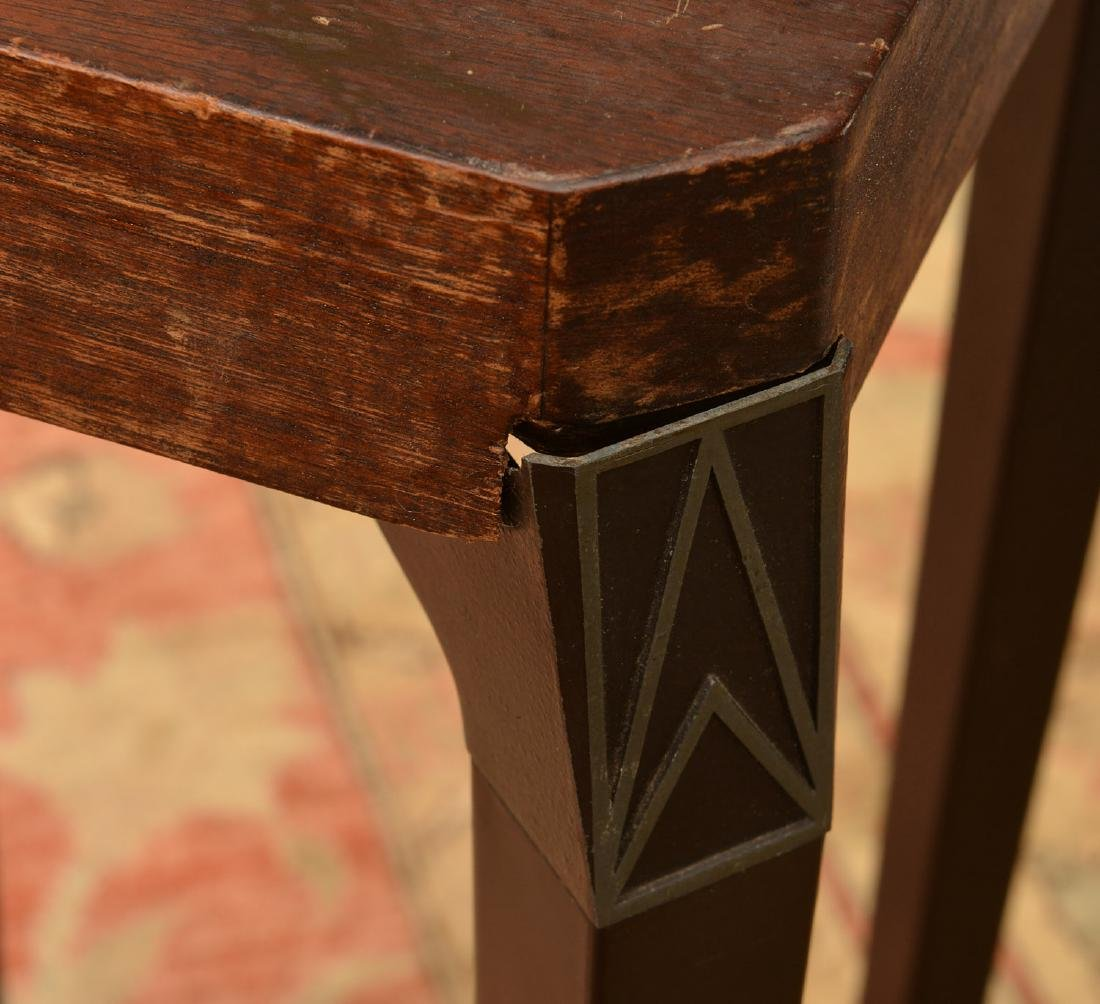 Art Deco style aluminum legged occasional table - 2