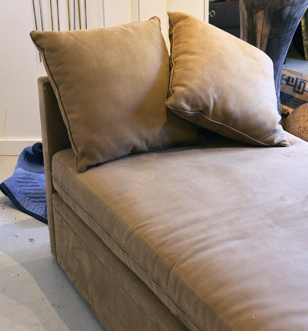 Avery Boardman convertible ultra suede daybed - 4