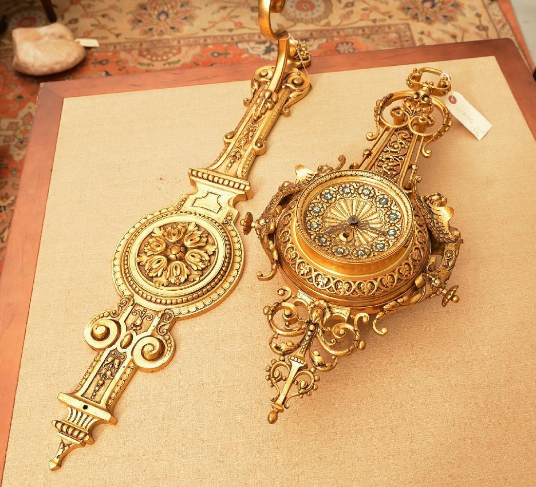 Spanish Renaissance style bronze hanging clock