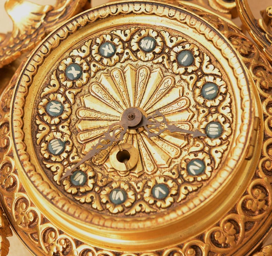 Spanish Renaissance style bronze hanging clock - 2