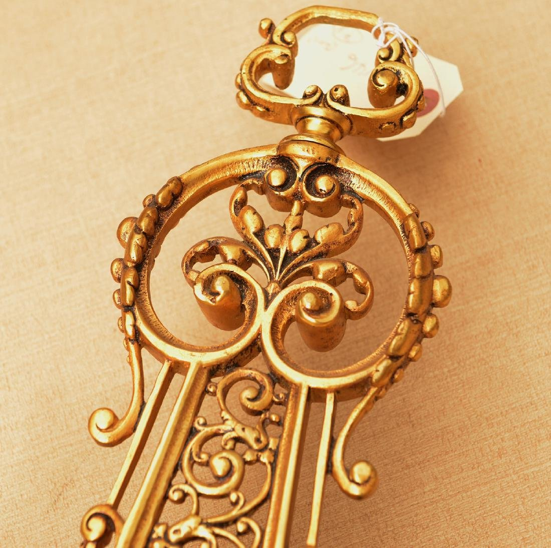 Spanish Renaissance style bronze hanging clock - 3