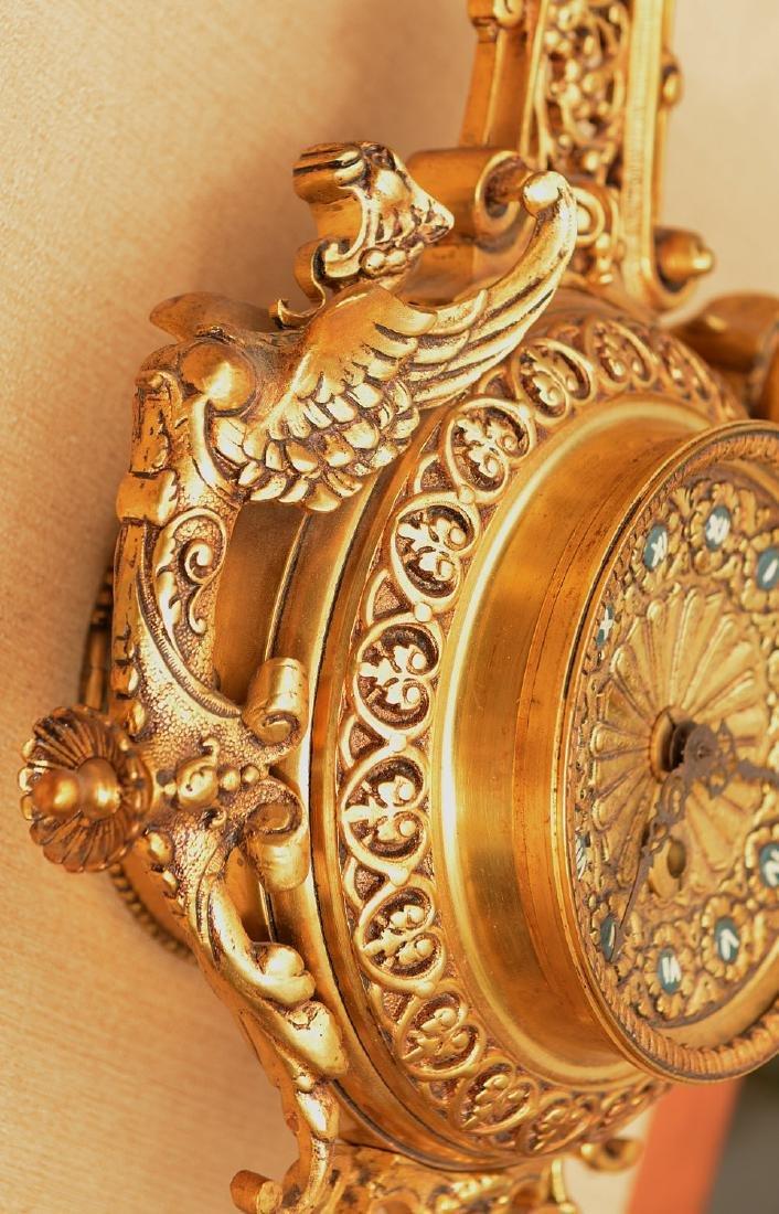 Spanish Renaissance style bronze hanging clock - 4