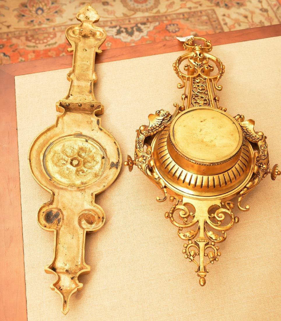 Spanish Renaissance style bronze hanging clock - 5