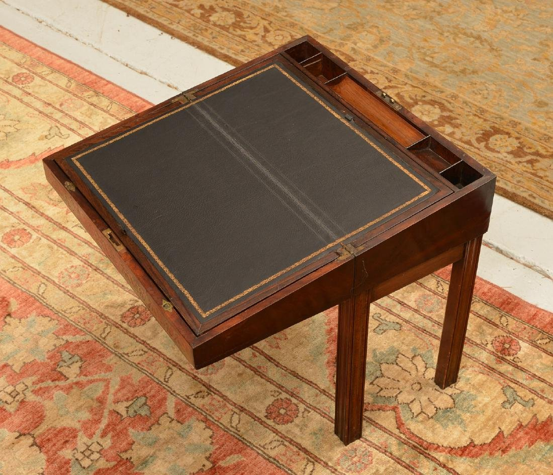 Nice Regency brass inlaid travel desk - 6
