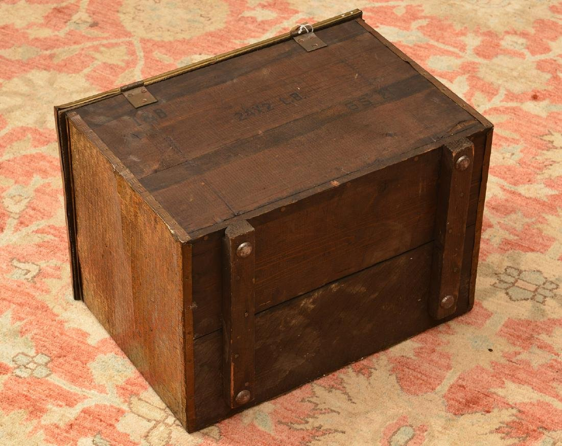 English chased brass coal box - 5