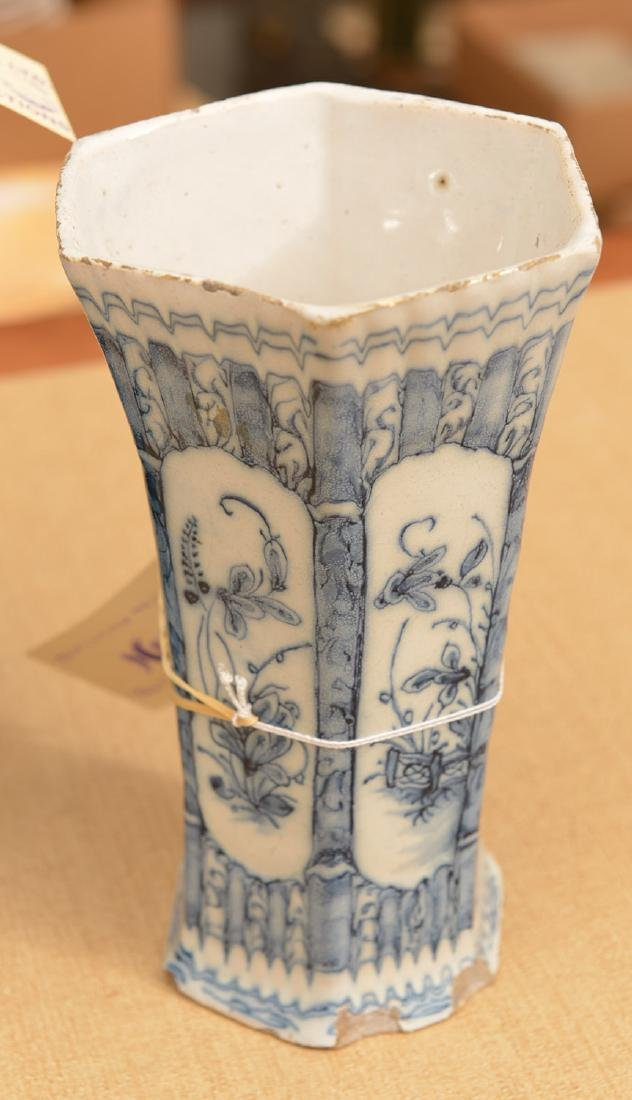 (3) Delft blue and white pottery vessels - 2