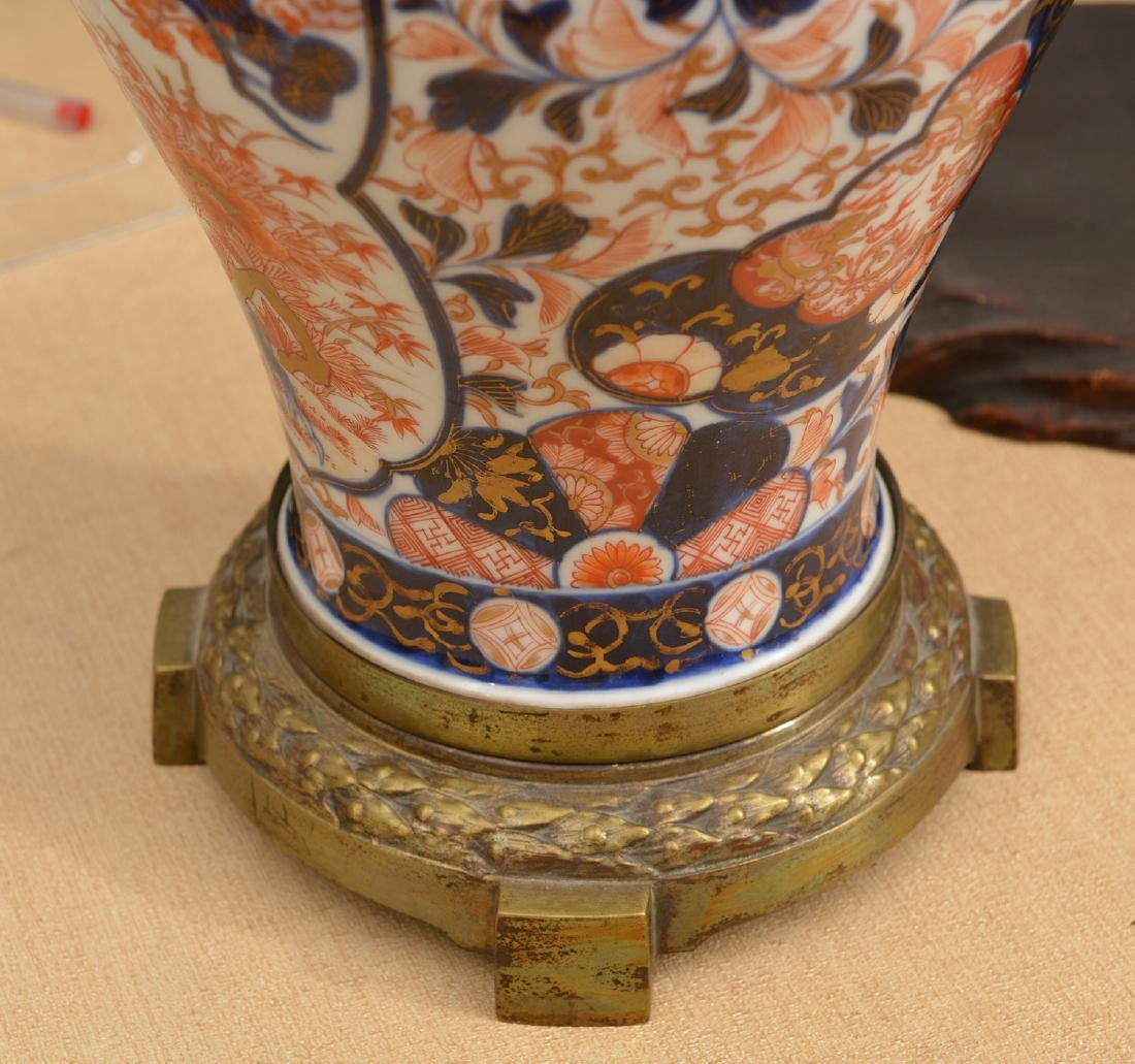 Brass mounted Japanese Imari baluster vase - 2