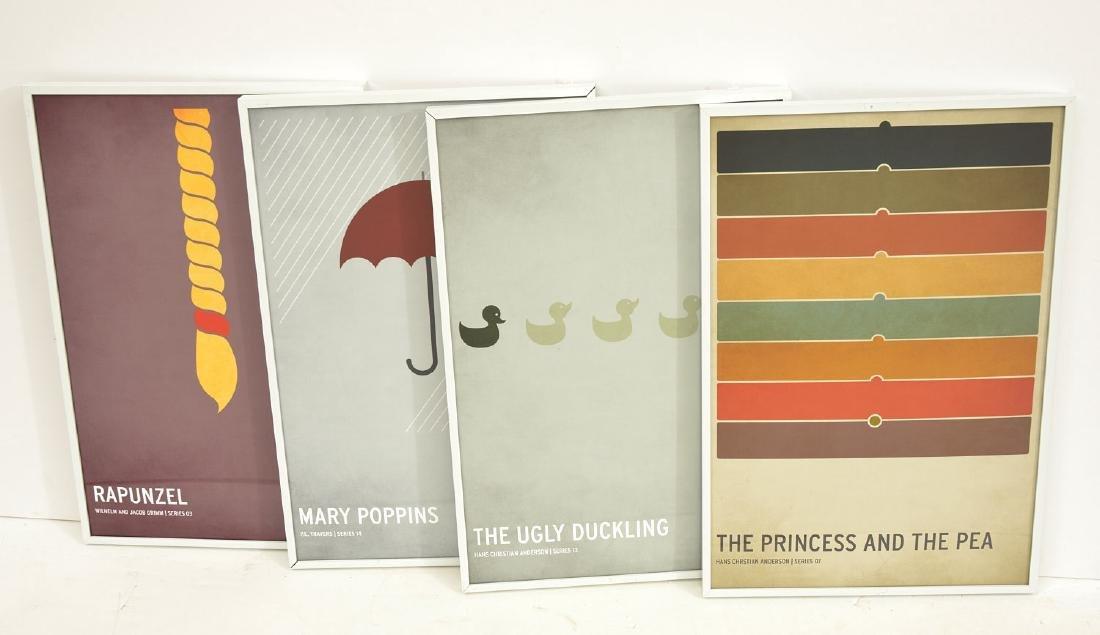 Christian Jackson, set (4) fairy tale posters