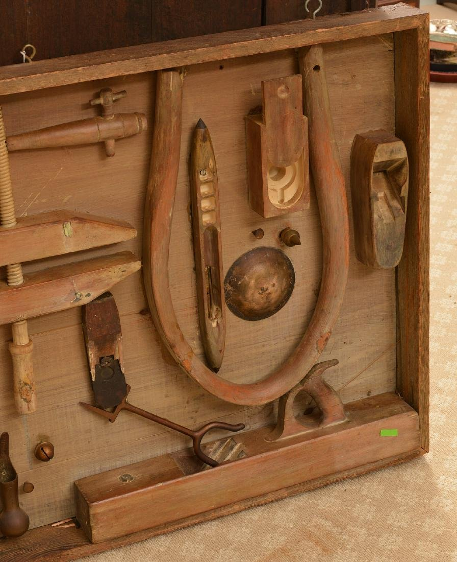 Antique tool and found object wall sculpture - 3