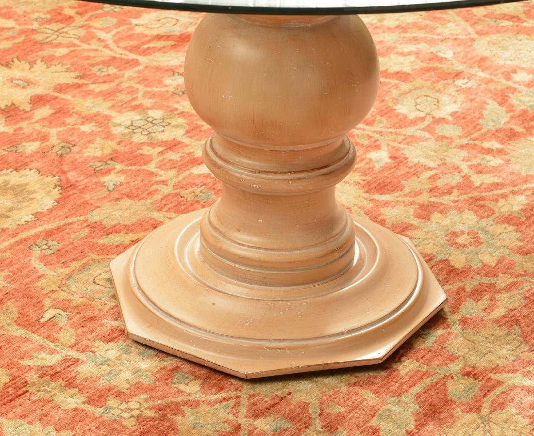 Decorator glass top pedestal dining table - 2