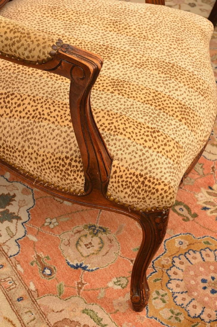 (2) Louis XV style armchairs with animal print - 2
