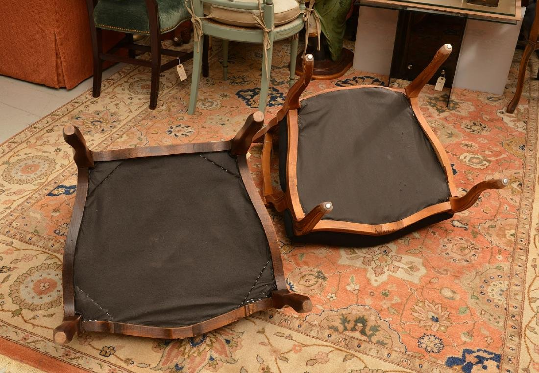 (2) Louis XV style armchairs with animal print - 5