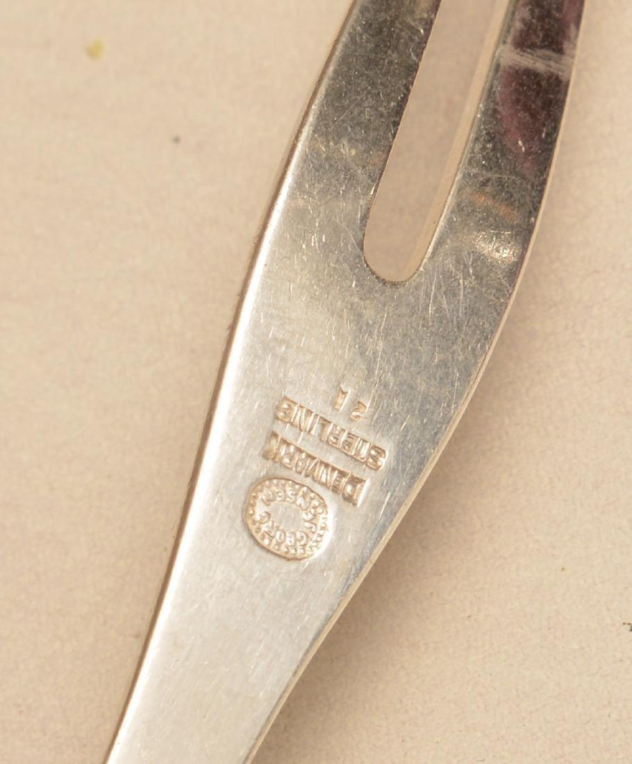 (2) Georg Jensen, Denmark sterling serving pieces - 6