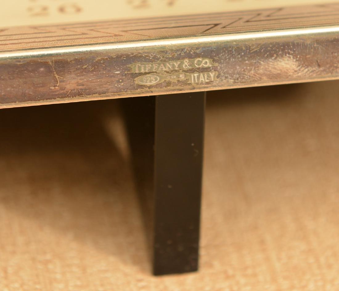 Tiffany & Co. sterling framed desk calendar - 4