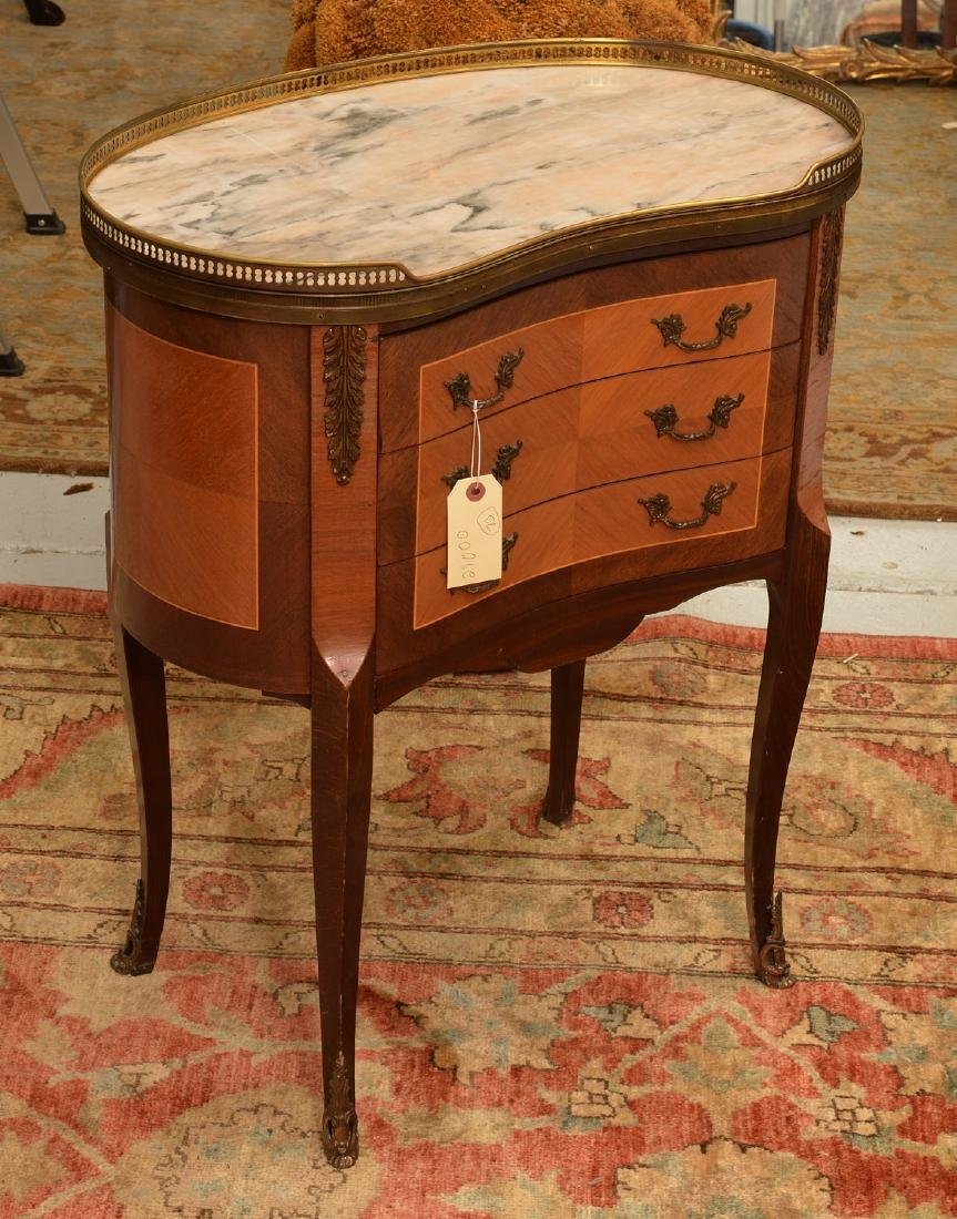 Louis XVI style bronze mounted marble top table
