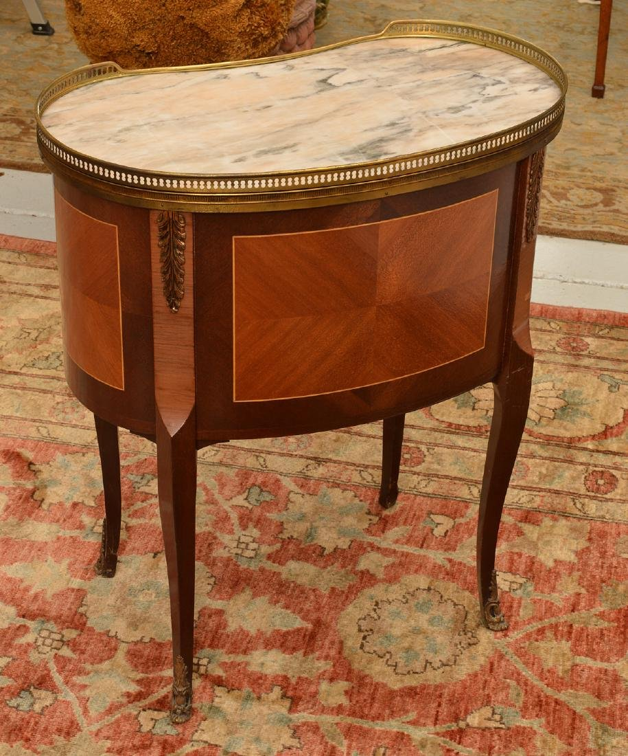 Louis XVI style bronze mounted marble top table - 4