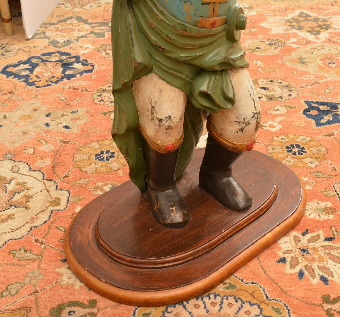 Continental style polychromed wood figural table - 4