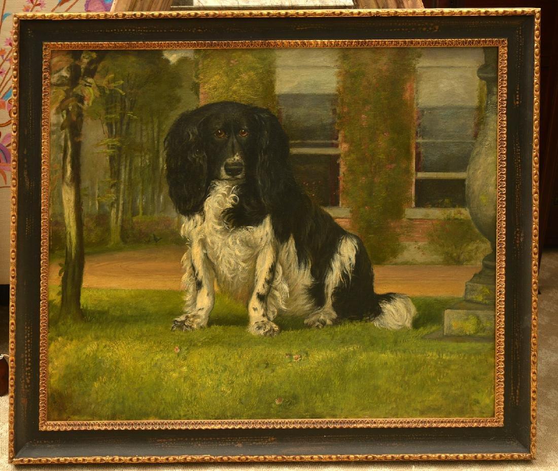 English School, dog painting