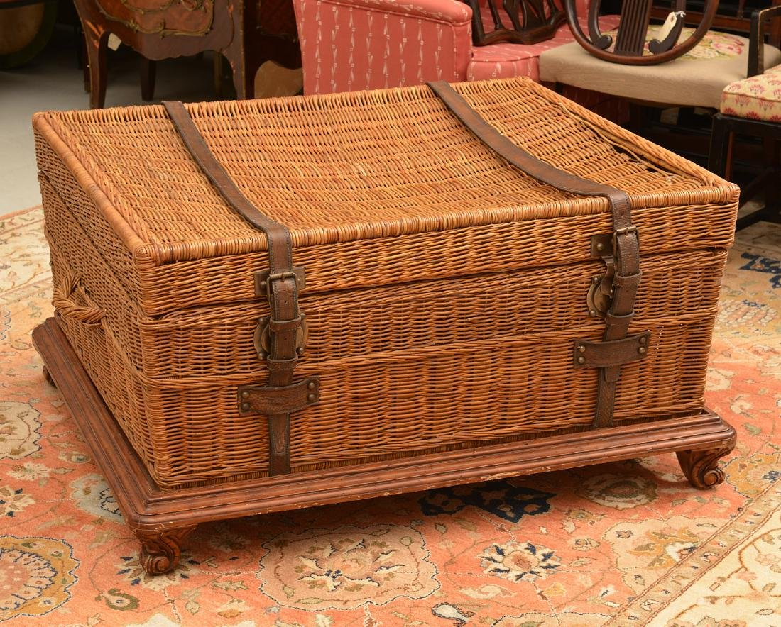 Ralph Lauren coachwork style wicker trunk table