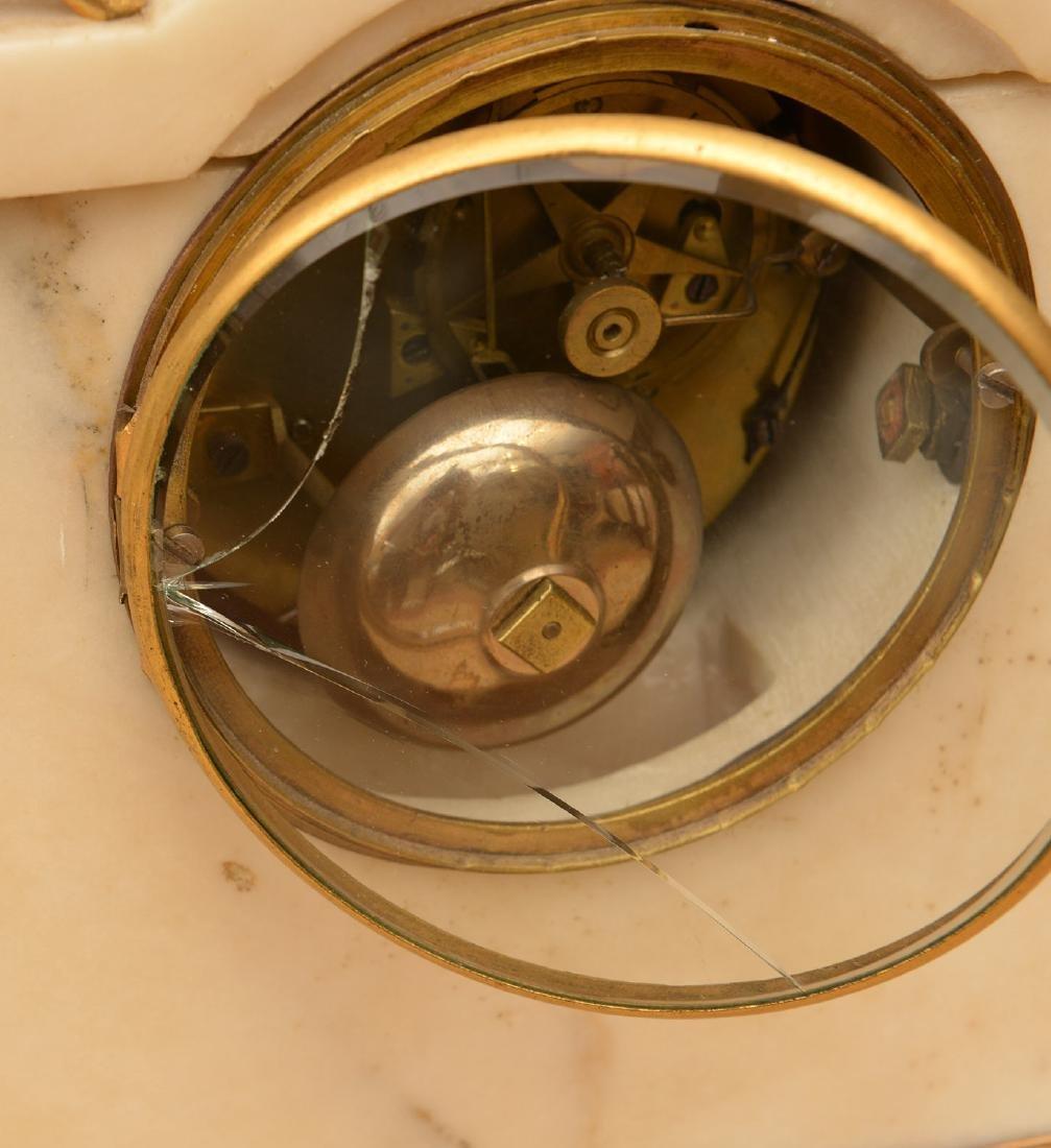 Louis XVI gilt bronze and marble mantel clock - 7