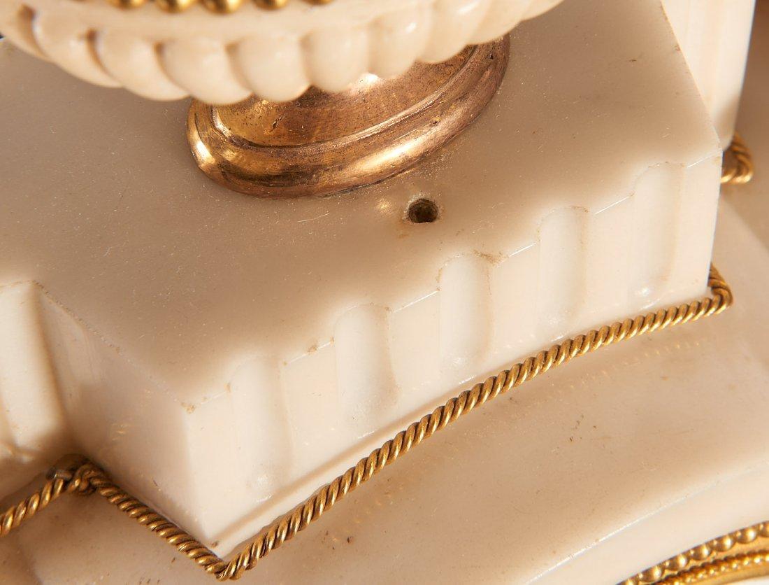 Louis XVI gilt bronze and marble mantel clock - 8