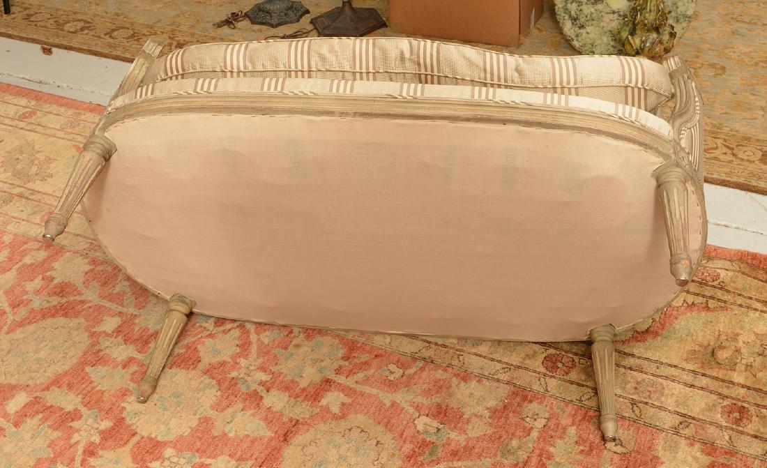 Louis XVI style cream painted settee - 5
