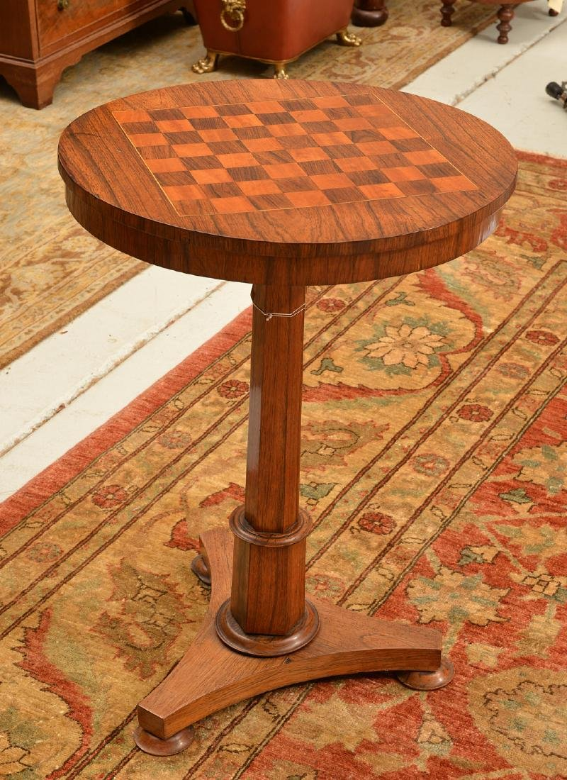 William IV inlaid tripod games table