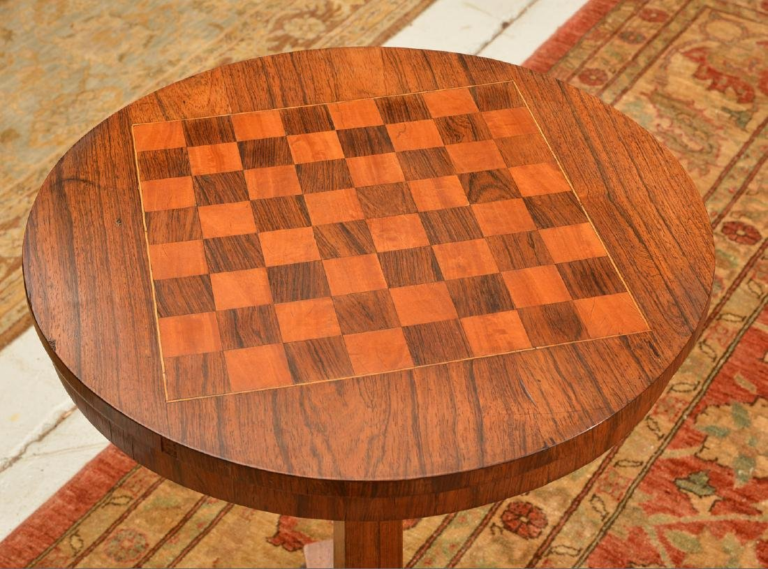 William IV inlaid tripod games table - 2